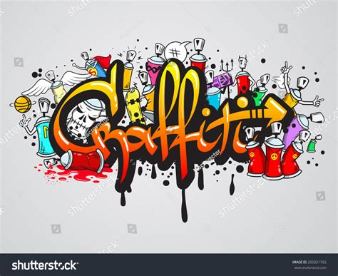 spray paint composition decorative graffiti spray paint letters and characters