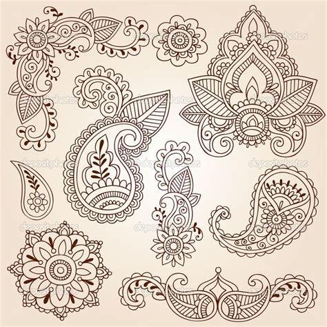 mandala flower tattoo henna mehndi paisley flowers
