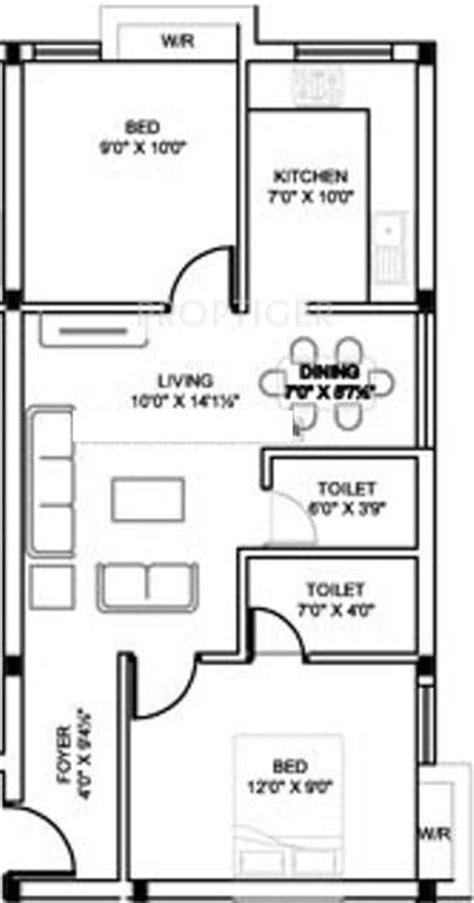 750 sq ft apartment floor plan 750 sq ft 2 bhk 2t apartment for sale in mm builders sbi