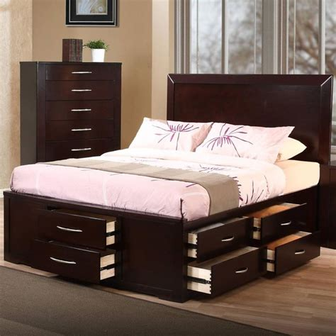 king size platform bed frame with storage best 25 platform bed with drawers ideas on
