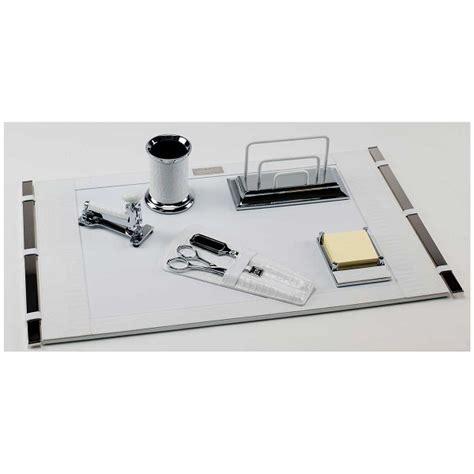 leather desk set white mini crocodile deluxe leather desk set paolo guzzetta