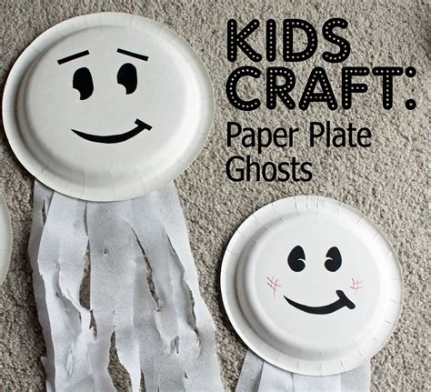 ghost craft for paper plate ghosts who arted