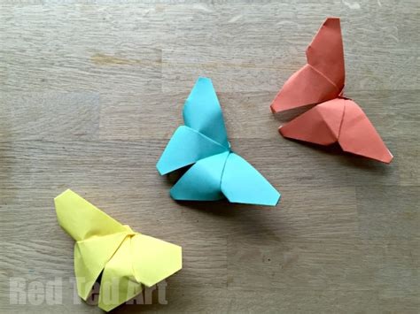 easy paper crafts origami butterflies how to easy paper butterflies for
