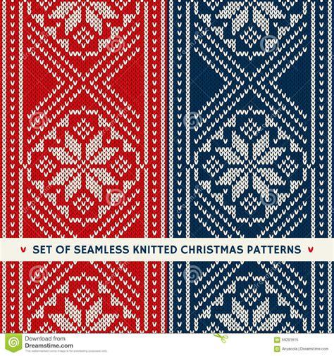 knitting holidays set of 2 winter seamless knitting patterns