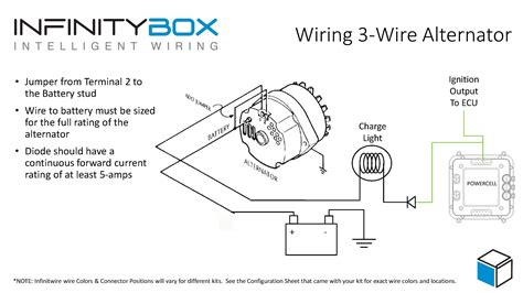 how to wire lights to a battery 3 wire alternator infinitybox