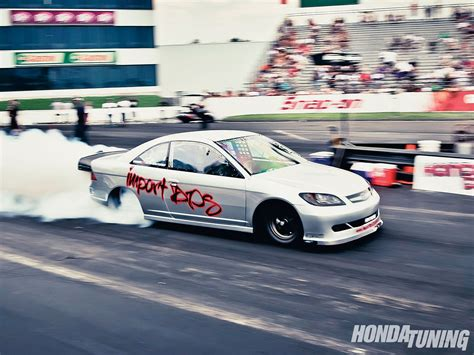 Honda Civic Drag Race by Honda Drag Racing Records Honda Tuning Magazine