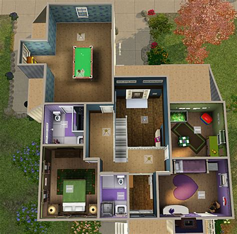 sims 3 4 bedroom house design my sims 3 4 bedroom 3 bath house by chellemh29