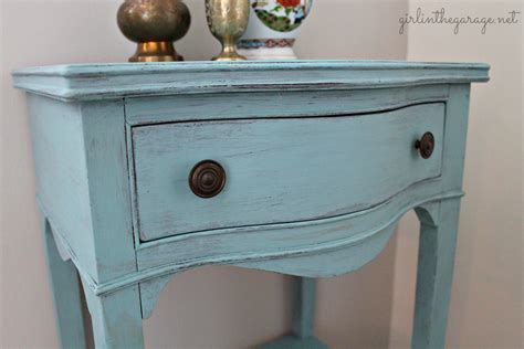 chalk paint robin s egg blue chalk painted table with gold in the garage 174
