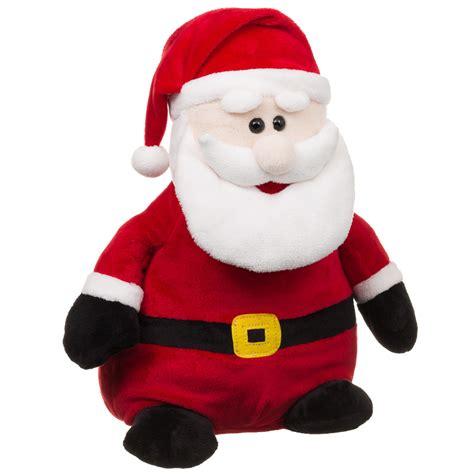 large santa b m santa claus plush stuffed cuddly toys