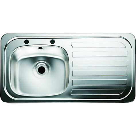 single kitchen sink wickes single bowl kitchen sink stainless steel rh drainer
