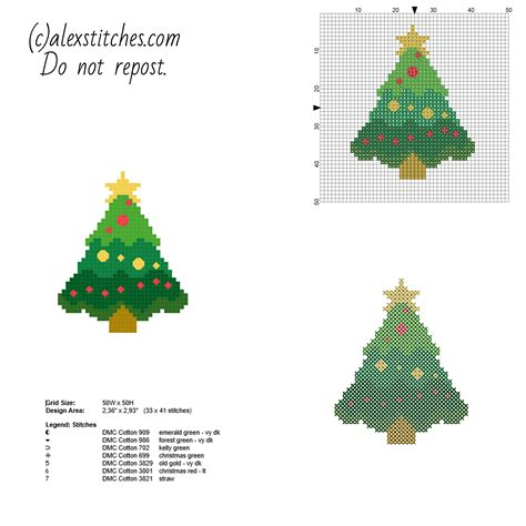 small tree pattern small and simple cross stitch card with tree