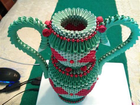origami vase 3d vase 3d origami by esmeraldaarribas on deviantart