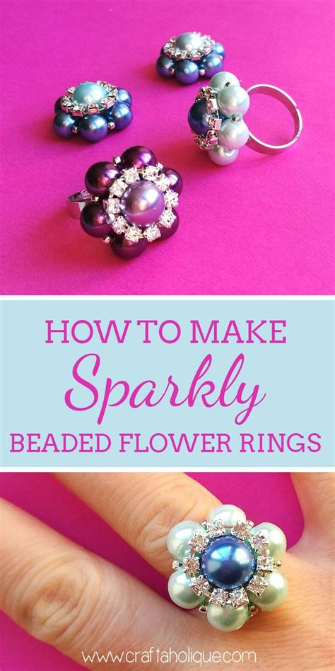 how to make beaded rings 1000 ideas about beaded flowers on