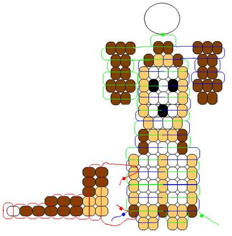 monkey pony bead pattern monkey pony bead pattern memes