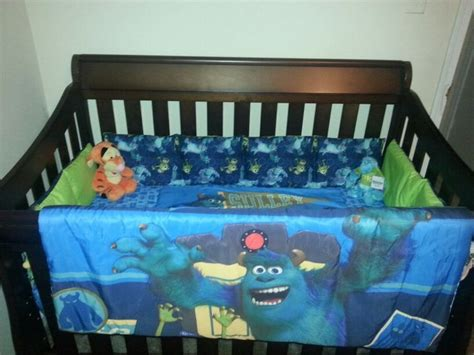 monsters toddler bed set diy monsters inc crib bedding 1 bought a monsters inc