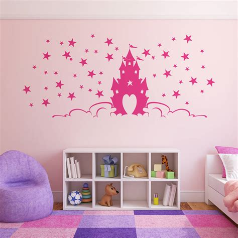 princess castle wall stickers fairytale princess castle wall stickers by parkins