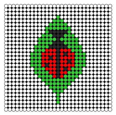 beaded ladybug pattern ladybug in leaf perler bead pattern bead sprites