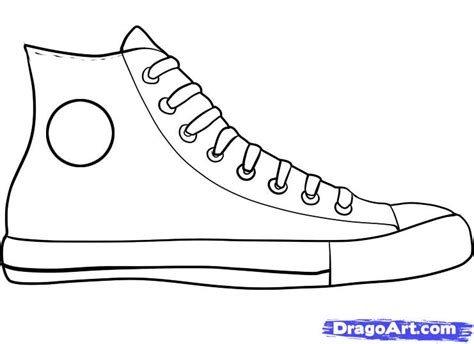 how to draw shoes how to draw converse how to draw chuck taylors step by