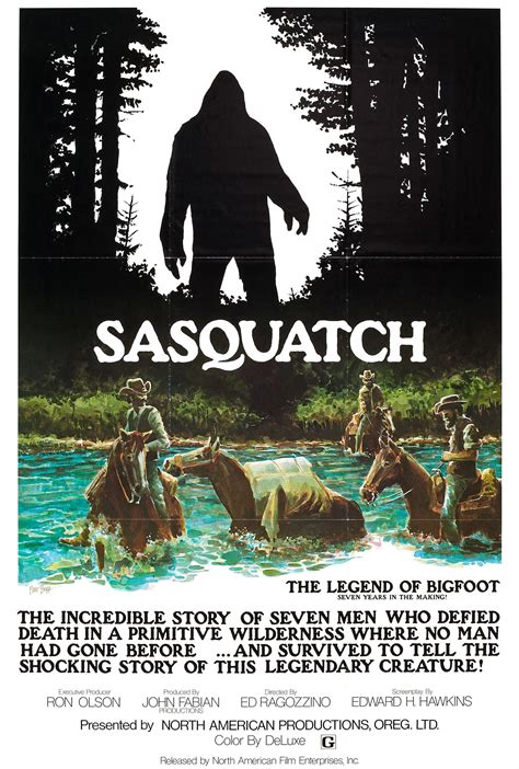 legend of oot poster for sasquatch the legend of bigfoot 1977 usa
