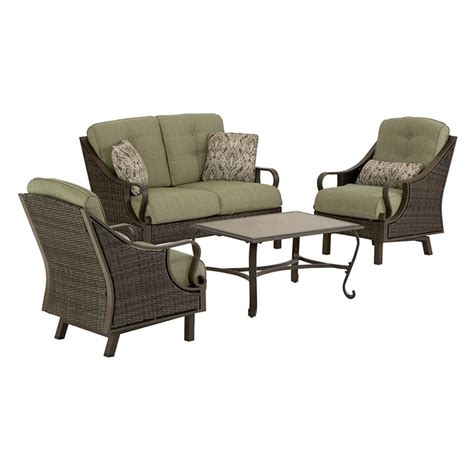 conversation sets patio furniture shop hanover outdoor furniture ventura 4 wicker