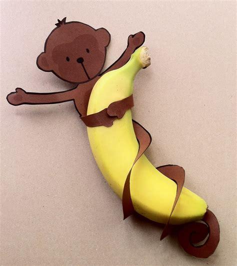 banana craft for easy monkey banana treats free printable diy inspired
