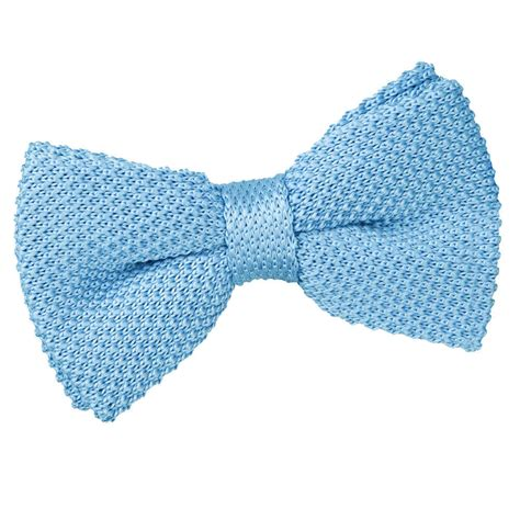 knitted bow tie s knitted baby blue bow tie