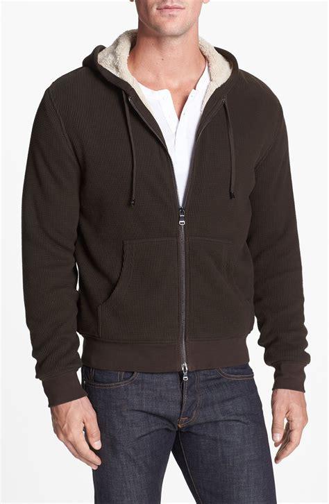 waffle knit hoodie michael kors waffle knit hoodie in brown for teak lyst
