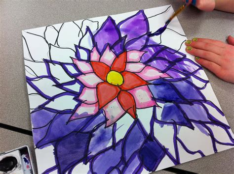 O Keeffe Flowers Get To Draw Big Free Lesson Plan