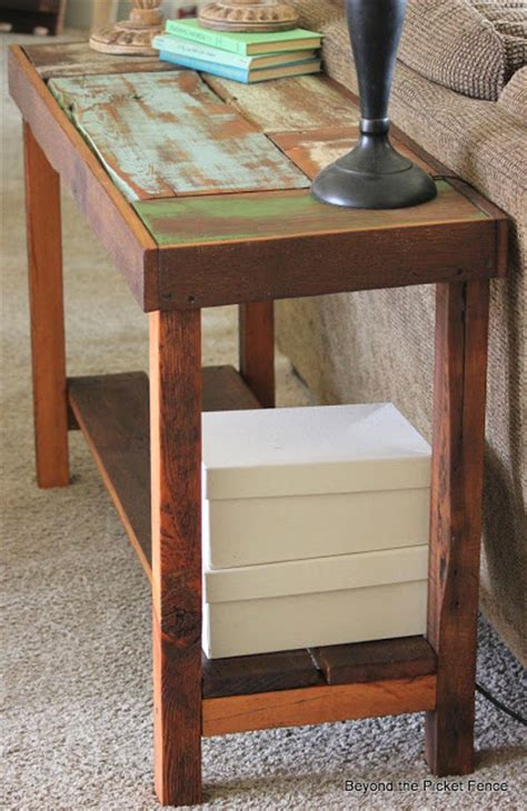 reclaimed wood sofa table beyond the picket fence reclaimed wood sofa table tutorial