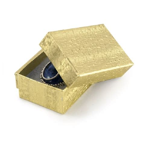 jewelry box supplies gold foil cotton filled jewelry box 21 retail boxes