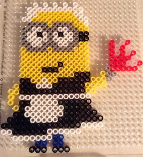 minion perler bead look a minion i can t believe i made this minion
