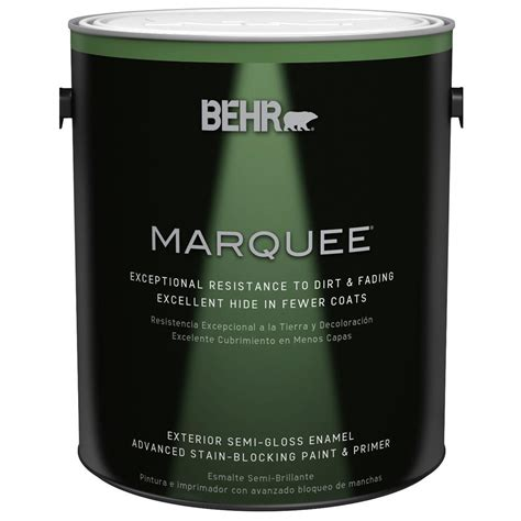 home depot behr marquee paint colors behr marquee 1 gal base semi gloss enamel exterior