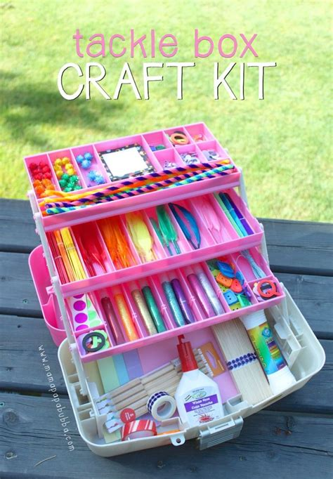 kid craft box tackle box craft kit supplies gift for