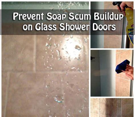 how to clean scum shower doors prevent soap scum buildup on glass shower doors