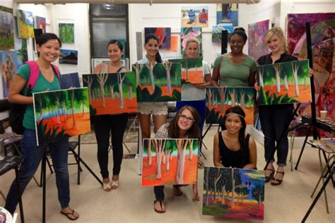 paint nite nyc locations wine and painting nyc ktrdecor
