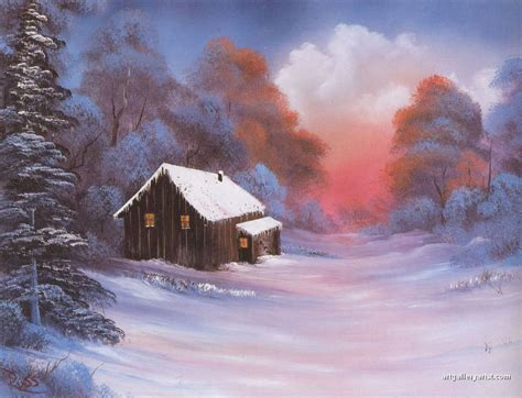 bob ross paintings gallery the gallery for gt bob ross winter paintings