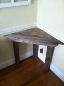 diy corner table easy corner desk out of pallet wood also would be a great