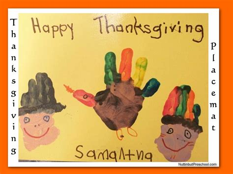 thanksgiving placemat craft for 6 best images of preschool printables thanksgiving