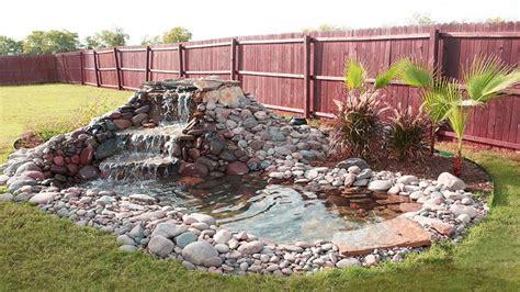 backyard pond ideas with waterfall backyard waterfall ideas backyard design backyard ideas