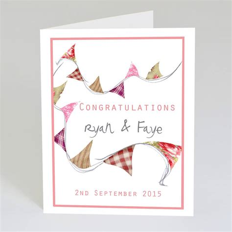 how to make a congratulations card personalised wedding congratulations card by violet