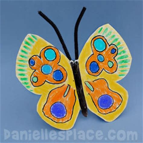 butterfly paper plate craft butterfly caterpillar and inchworm crafts
