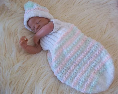 baby cocoon knit pattern aran knitting pattern 47 to knit cocoon hat set baby boys