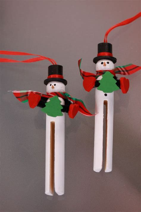 wooden clothespin crafts for wooden clothespin snowman ornament handpainted for