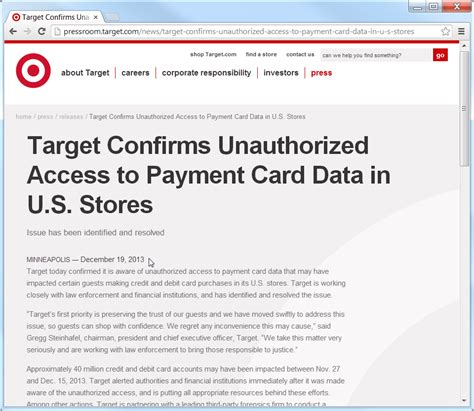 target card make payment millions of credit cards at target were hacked here s how