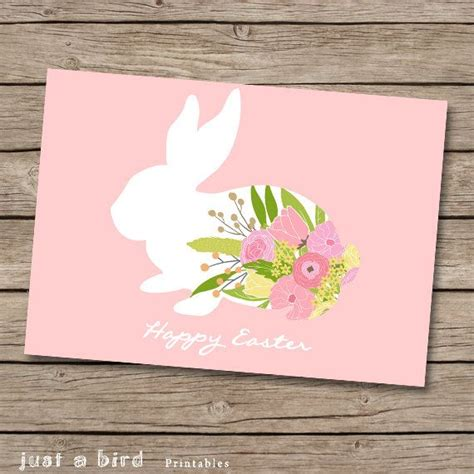 card ideas for easter 5x7 easter card print diy easter card easter bunny