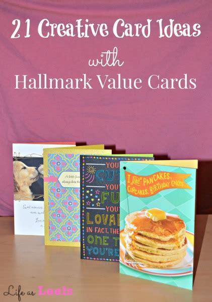 creative card ideas 21 creative card ideas with hallmark value cards