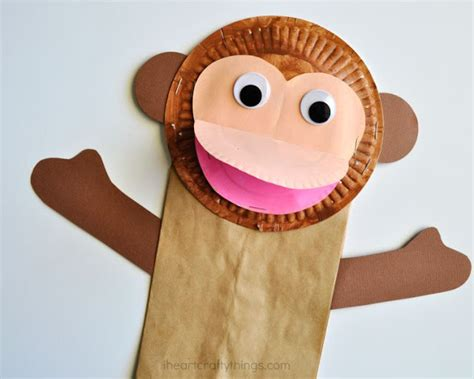paper bags crafts paper bag monkey craft for i crafty things
