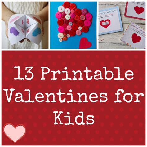how to make a valentines card ideas for 13 printable valentines