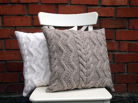 cable knit pillow beige gray or white cable knit pillow cover 18х18 inches