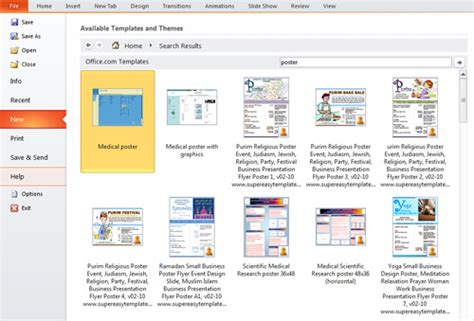 presentation tip how to create a poster in powerpoint